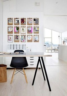 Multiple ideas for inexpensive wall art are on this site...clever, contemporary decorative ideas to organizational ways that will cover and utilize wall space!