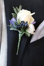 purple and cream button hole flowers - Google Search