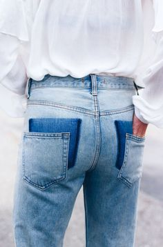 I am in love with these Drop Pocket Jeans. It's all in the details.