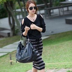 Discount China china wholesale Ladies Fashion All-match Striped Strapless Long Dress [31281] - US$13.99 : Bluelans