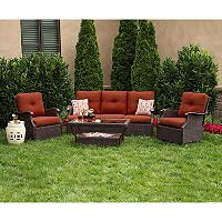 Member's Mark® Stockton Deep Seating Set with Premium Sunbrella® Fabric in Cornell Red - 4 pcs. - Sam's Club