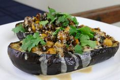 Recipe: Middle-Eastern Eggplants with Lemon-Tahini Sauce