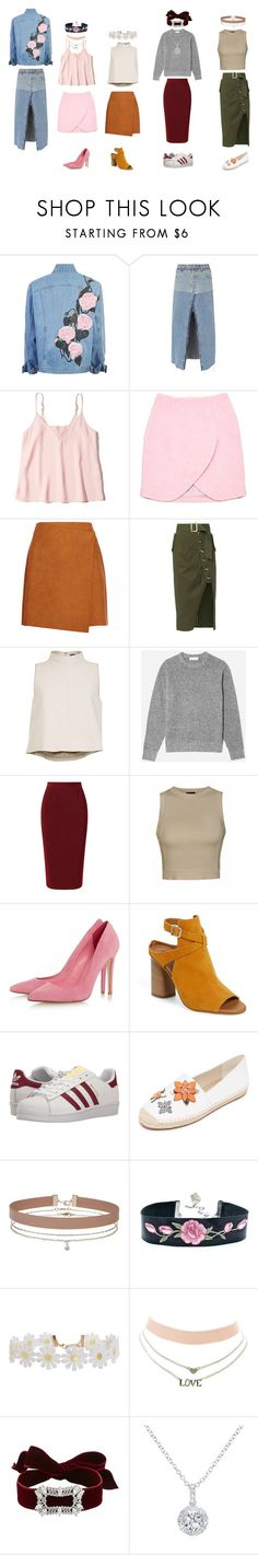 """""""Mixxy-Matchy"""" by jenisec-hornet on Polyvore featuring RE/DONE, Hollister Co., Carven, MSGM, self-portrait, TIBI, Roland Mouret, Ally Fashion, Topshop and adidas Originals"""