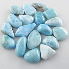 1 Larimar gemstone cabochon (N) 19 to 30mm: Wholesale Gemstone Beads - Magpie Gemstones