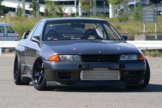 godzilla, r32, nissan skyline, gunmetal grey, volk wheels, nismo Nissan Skyline Gt R, Nissan Gt R, Nissan 240sx, Skyline Gtr, Tuner Cars, Jdm Cars, R32 Gtr, Subaru Wrx, Japanese Cars