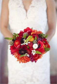 """They call it """"spanish wedding bouquet"""" but I think it would do just as well for fall.  But it needs more purple :)"""
