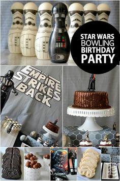 Boy's Star Wars Bowling Birthday Party Ideas