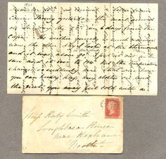 Victorian envelope with cross written letter. Sir Adrian's plans--the experiment.