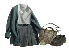 #234 by deadolphin on Polyvore featuring polyvore, fashion, style, Prada, Dr. Martens and Paul & Joe