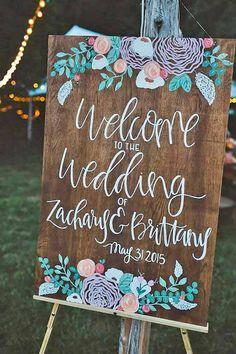 rustic bohemian wedding signs More