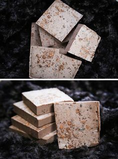 HOW TO MAKE HOMEMADE COCOA MINT SOAP  Shea butter soap base 1-2 tablespoons cocoa powder 1-2 tablespoons chopped fresh mint 6-10 drops of peppermint essential oil Soap mold. Don't bother buying a plastic mold – just reuse a plastic or cardboard container.