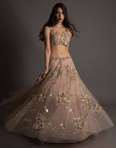 Looking for engagement lehenga? Browse of latest bridal photos, lehenga & jewelry designs, decor ideas, etc. on WedMeGood Gallery. Choli Designs, Lehenga Designs, Indian Attire, Indian Ethnic Wear, Anarkali, Lehenga Choli, Pink Lehenga, Bollywood, Lehnga Dress