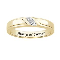 Name Engraved Ring Designs