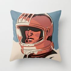 Astronaut Throw Pillow by Señor Salme - $20.00