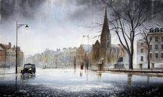 Worth Waiting For by Jeff Rowland Pop Art Studio, Rain Photo, Art Techniques, Retro Vintage, Watercolor, Gallery, Artist, Outdoor, Organizing