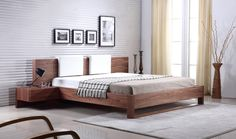 Bay Collection Wood Bed by Talenti Casa | Modern Bedroom Furniture