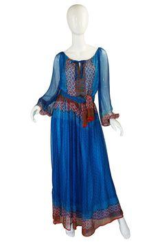 Rare 1970s Bellville Sassoon Silk Dress
