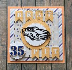 Handmade card for 35th birthday