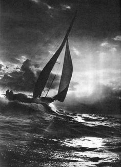 This reminds me of one night sailing past Cuba.  The moon was bright, and the sweet smell of the burning cane fields drifted through the air.  The boat was humming her song, like a mother sings a lullaby.  A perfect night. RH.