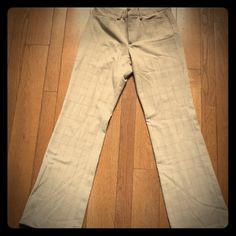 Gap pants Business casual or a day out in town - tan and brown plaid Gap pants.  63% polyester, 32% rayon, 6% spandex; GAP Pants Trousers