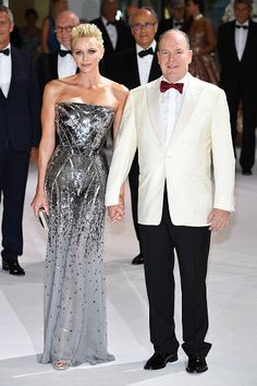 Prince's Albert and Princess Charlene attend the Rose...