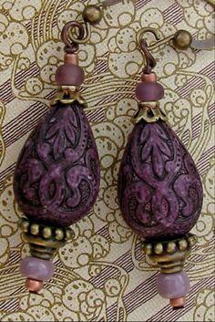 purple dangly earrings - yep that's me          ...by Divine Depth on etsy
