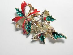 Vintage Christmas Bells Brooch by GrandVintageFinery on Etsy, $10.00