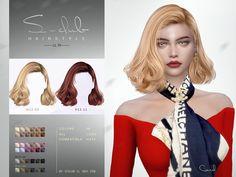 Sims 4 Curly Hair, Sims Hair, Curly Hair Styles, Sims 4 Mods Clothes, Sims 4 Clothing, Sims Mods, Club Hairstyles, Permed Hairstyles, Female Hairstyles