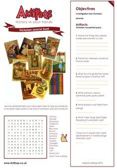 Free Worksheet! Victorian Memorabilia Objectives Investigation ...