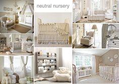 neutral nursery interior design #moodboard #nursery #neutral