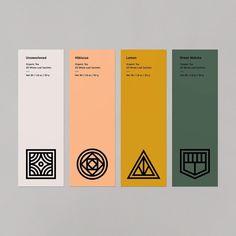 "Steve Wolf ""Working on a system for some tea labels. Web Design, The Design Files, Label Design, Layout Design, Logo Design, Branding And Packaging, Branding Kit, Branding Ideas, Business Branding"