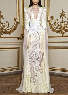 Givenchy. This reminds me of the Swan Princess!