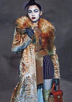 Anna Cleveland, Jing Ma, Tian Yi, Xiao Wen Ju by Steven Klein for Vogue Italia June 2015