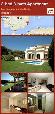 3-bed 3-bath Apartment in Los Belones, Murcia, Spain ►€545,000 #PropertyForSaleInSpain