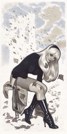 Gwen Stacy by Adam Hughes, Commissioned at SDCC 2011, completed July 2013.