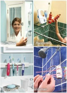 5 DIY Bathroom Storage - 30 Brilliant Bathroom Organization and Storage DIY Solutions Hooks to hold sonic brushes Bathroom Organization, Bathroom Storage, Organization Hacks, Small Bathroom, Bathroom Ideas, Bathroom Renovations, Shower Storage, Household Organization, Bathroom Showers