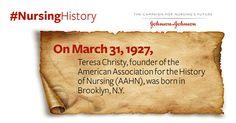 In 1927, #nurse Teresa E. Christy was born in Brooklyn, NY #NursingHistory