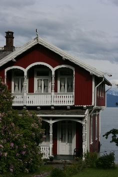 Beautiful Home -=- Norway at the Fjord, Fabulous !! ♥  #home #architecture