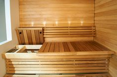 Washable, Sustainable And Affordable: Sauna Benches For Any Environment Banquettes, Finnish Sauna, Saunas, Painted Doors, Shower Tub, Outdoor Furniture, Outdoor Decor, Storage, Benches