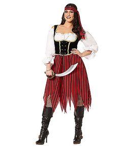 Adult Buccaneer Beauty Pirate Plus Size Costume - Spirithalloween.com
