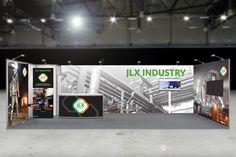 JLX Industry messuosasto, logo, brändiuudistus ja verkkosivusto.