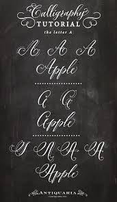 Antiquaria - Calligraphy Capital Tutorials