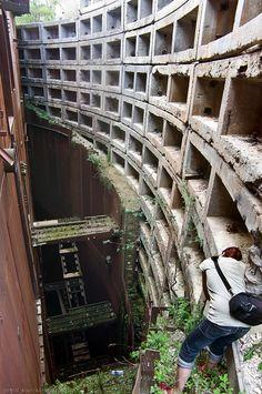 Huge abandoned bunker in Chisinau, Moldavia.