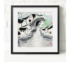 beautiful landscape artchinese artink paintingFramed art by art68