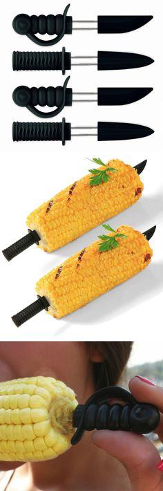 Ninja corn skewers - mini samurai / pirate / ninja swords to hold your corn! #product_design