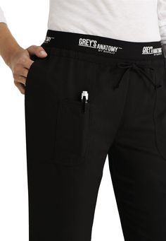 Grey's Anatomy Active low rise logo waist scrub pant in Black   Scrubs and Beyond  Such a comfy brand, my favorite!