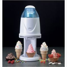 As seen on tv - Deni Soft Serve ice cream maker Kitchen Supplies, Kitchen Items, Kitchen Utensils, Kitchen Decor, Kitchen Appliances, Cool Kitchen Gadgets, Cool Gadgets, Cool Kitchens, At Home Movie Theater