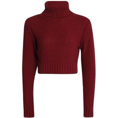 Nicole Turtle Neck Crop Jumper ($3.00) ❤ liked on Polyvore featuring tops, sweaters, shirts, turtleneck crop top, turtleneck tops, cropped turtleneck sweater, red sweater and turtle neck crop top
