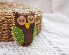 felt owl brooch - Google Search