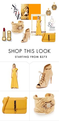 """& It Was All Yellow : This Is Glamorous"" by stylediva20 on Polyvore featuring ASOS, Cushnie Et Ochs, Aquazzura, Karen Walker, Elizabeth Cole and Marni"